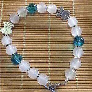 Jewelry - Handmade doggie bracelet with quartz beads